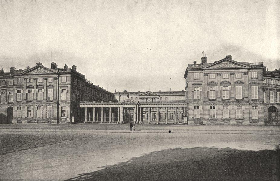 Associate Product OISE. Compiègne. Façade du Chateau 1895 old antique vintage print picture