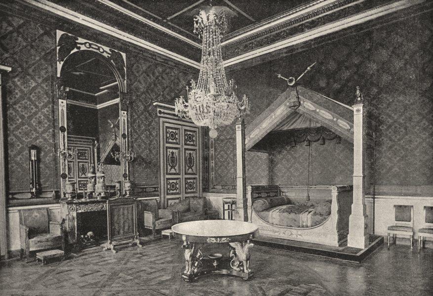 Associate Product OISE. Compiègne. Ancienne Chambre a Coucher de L'Empereur 1895 old print