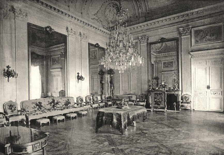 Associate Product OISE. Compiègne. Salon de Famille 1895 old antique vintage print picture