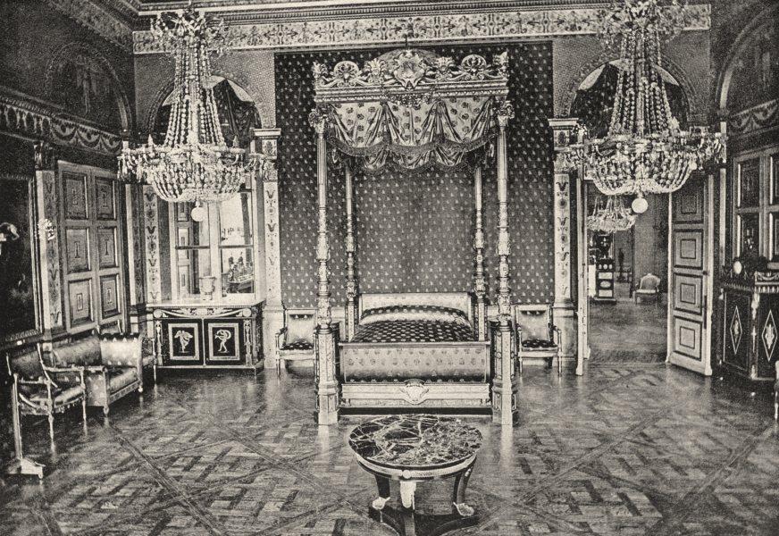 Associate Product OISE. Compiègne. Ancienne Chambre a Coucher de l'Impératrice 1895 old print