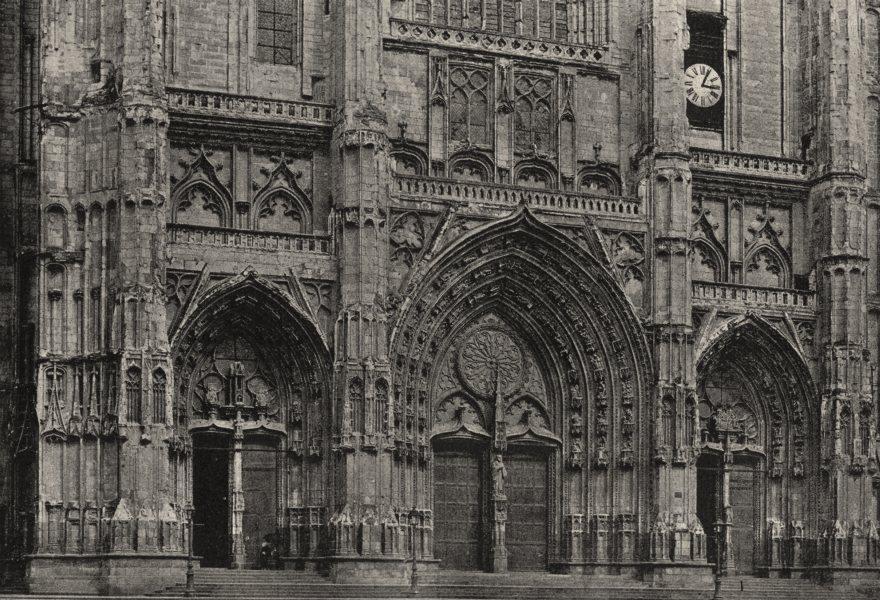 Associate Product LOIRE- ATLANTIQUE. Nantes. Cathédrale. Façade Ouest 1895 old print