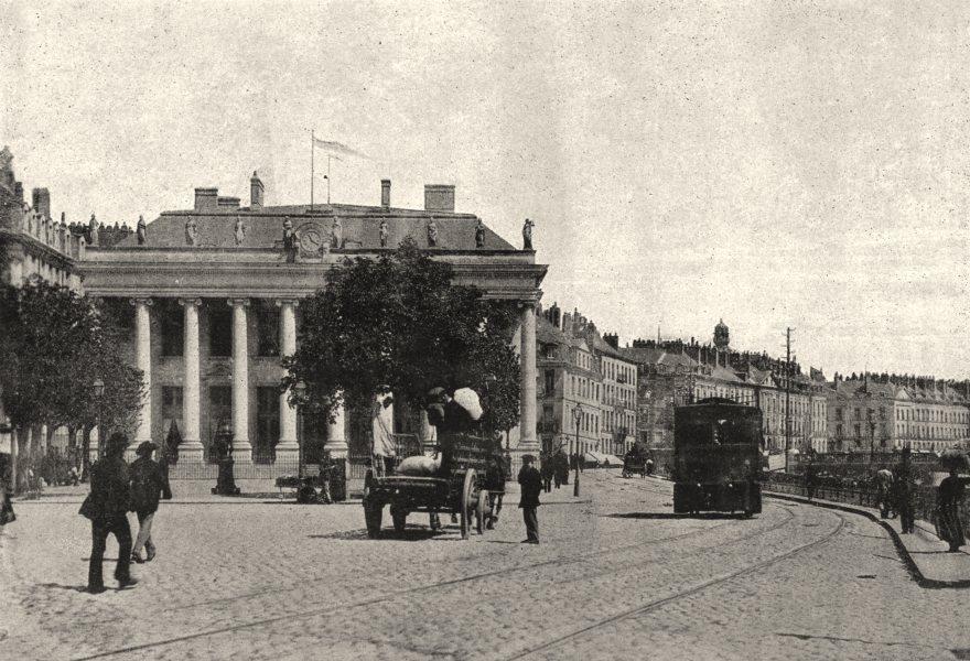 Associate Product LOIRE- ATLANTIQUE. Nantes. Bourse 1895 old vintage print picture