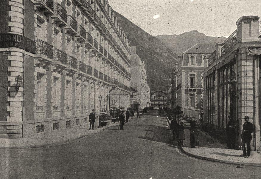 Associate Product HAUTES- PYRÉNÉES. Cauterets. Boulevard Latapie Florin 1895 old antique print
