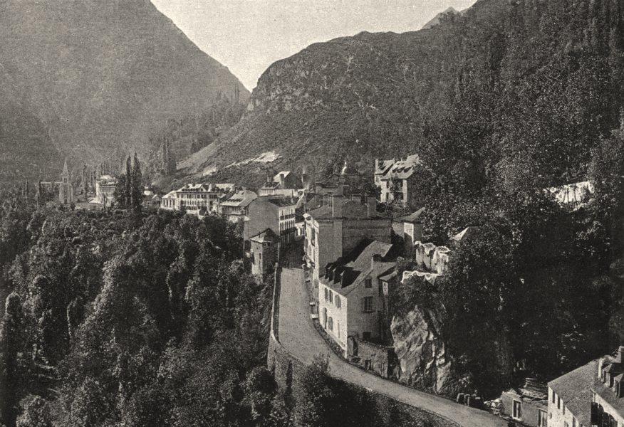 FRANCE. St- Sauveur 1895 old antique vintage print picture
