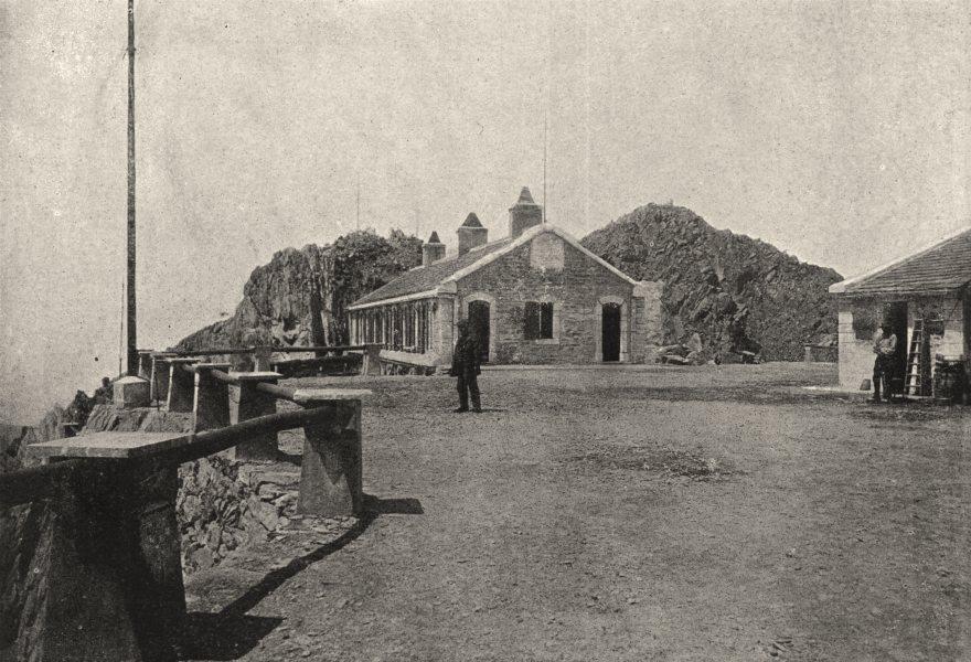 HAUTES- PYRÉNÉES. Maison du Pic Du Midi 1895 old antique vintage print picture