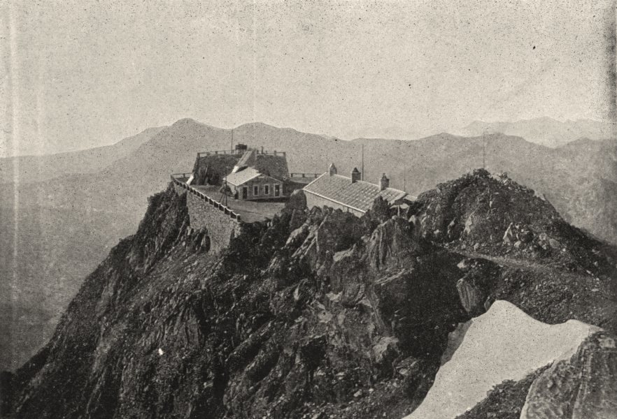 Associate Product HAUTES- PYRÉNÉES. Observatoire du Pic Du Midi 1895 old antique print picture