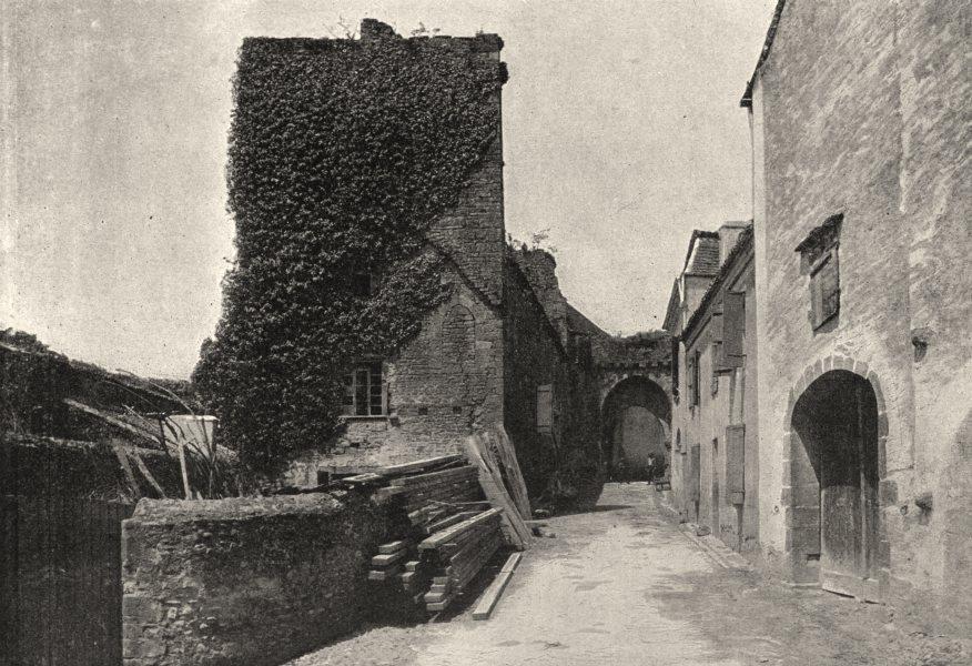 Associate Product FRANCE. Sauveterre. Une Rue 1895 old antique vintage print picture