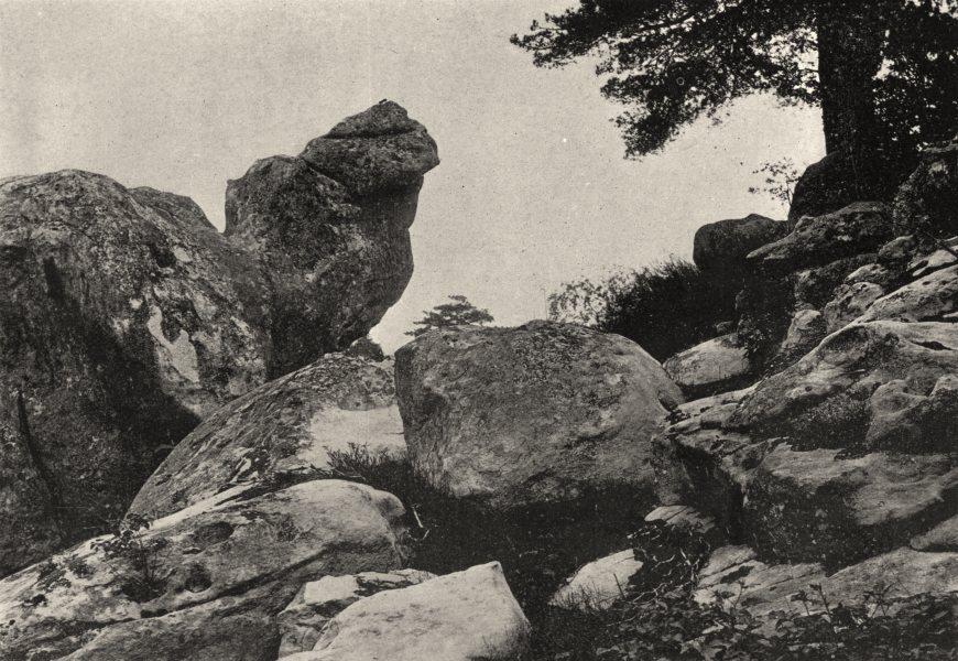 Associate Product SEINE- ET- MARNE. Forêt de Fontainebleau. Chaos Grotte Maleina 1895 old print