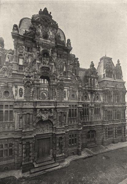 Associate Product PAS- DE- CALAIS. Arras. Hotel de Ville 1895 old antique vintage print picture
