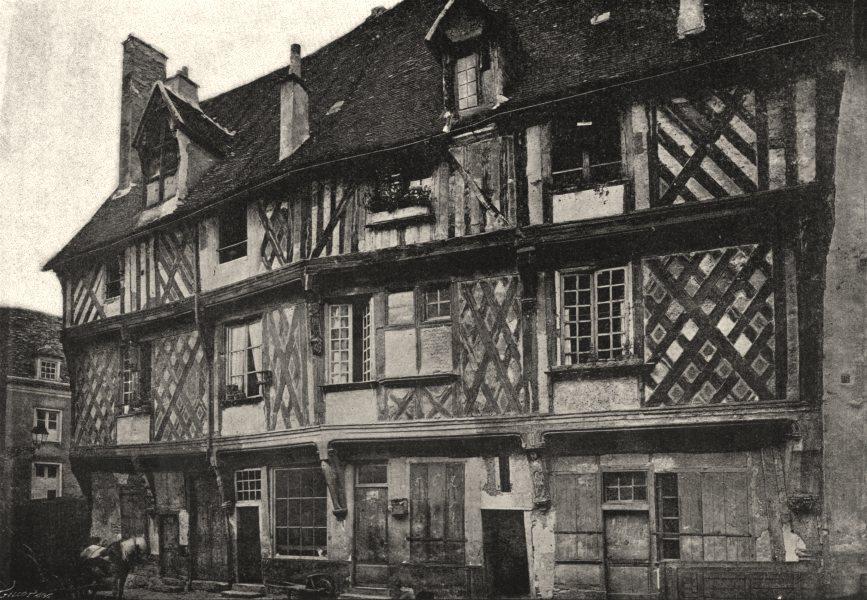 Associate Product EURE- ET- LOIR. Chartres. Vieilles Maisons 1895 old antique print picture