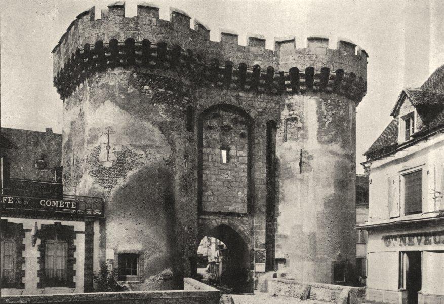 Associate Product EURE- ET- LOIR. Chartres. Porte Guillaume 1895 old antique print picture