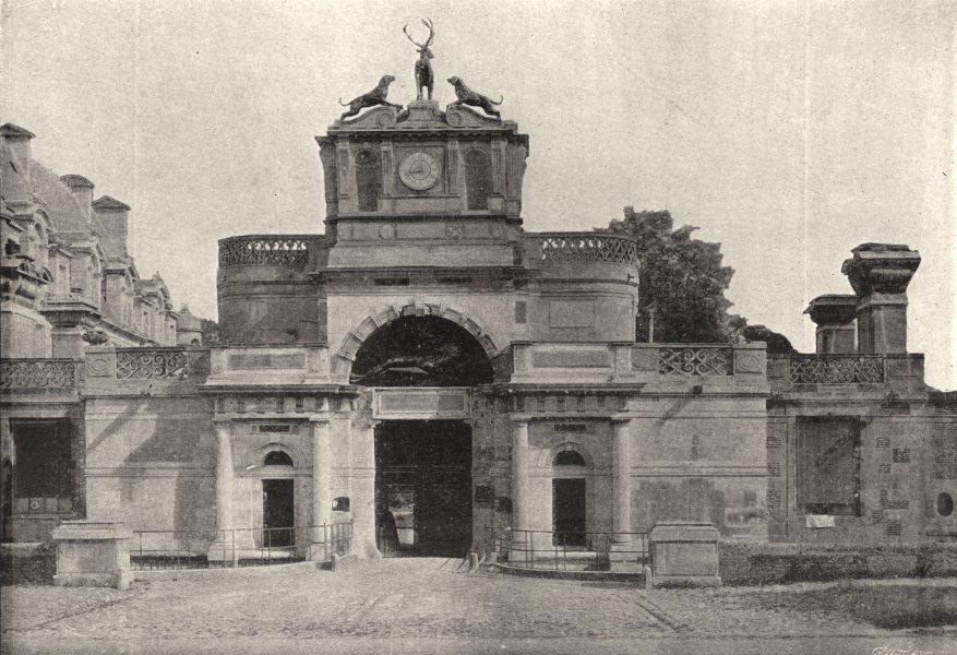 Associate Product EURE- ET- LOIR. Anet. Entrée du Chateau 1895 old antique vintage print picture