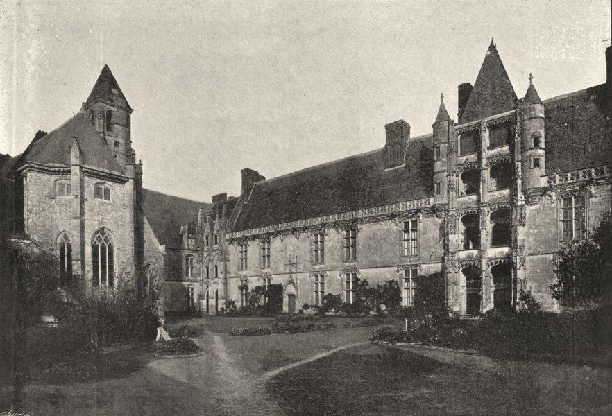Associate Product EURE- ET- LOIR. Chateaudun. Chateau 1895 old antique vintage print picture