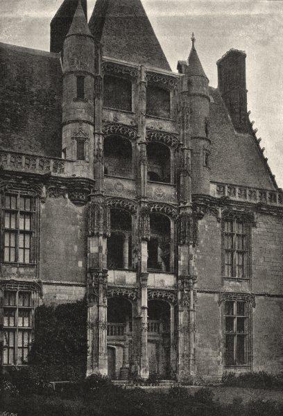 Associate Product EURE- ET- LOIR. Chateaudun. Pavillon du Chateau 1895 old antique print picture