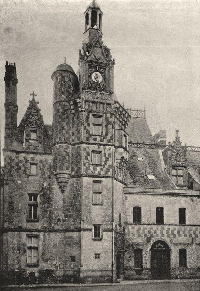 Associate Product YVELINES. Montigny. Tourelle de L'Escalier 1895 old antique print picture