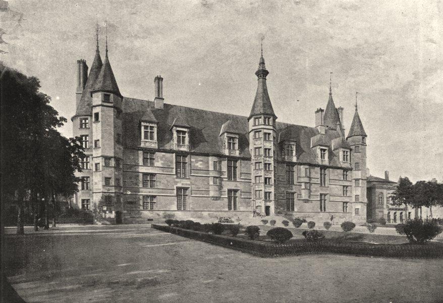 Associate Product NIÈVRE. Nevers. Palais Ducal 1895 old antique vintage print picture