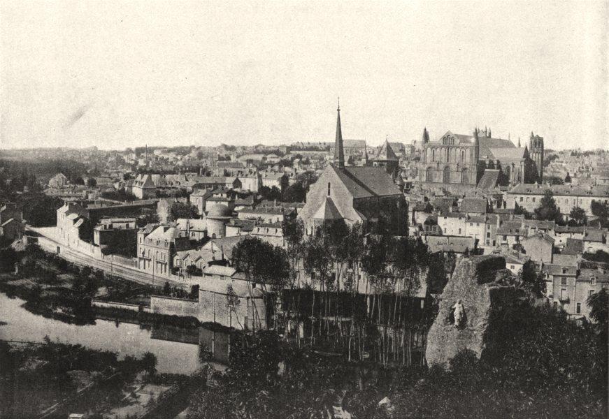 Associate Product VIENNE. Poitiers. Générale 1895 old antique vintage print picture