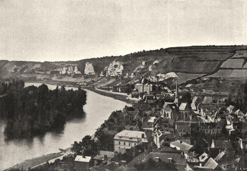 Associate Product EURE. Petit Andely. Générale 1895 old antique vintage print picture