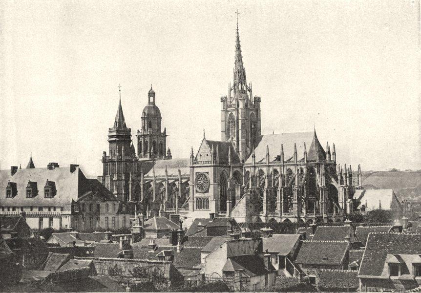 Associate Product EURE. Evreux. Cathédrale 1895 old antique vintage print picture
