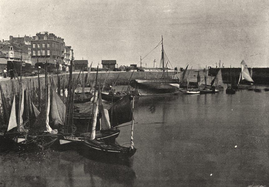 Associate Product SEINE- MARITIME. Tréport. port 1895 old antique vintage print picture