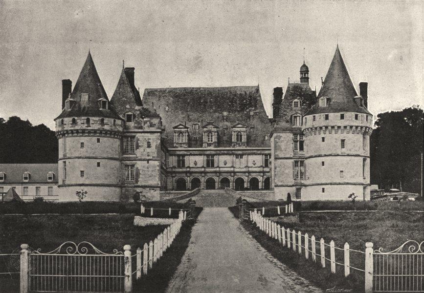 Associate Product SEINE- MARITIME. Mesnières. Chateau 1895 old antique vintage print picture