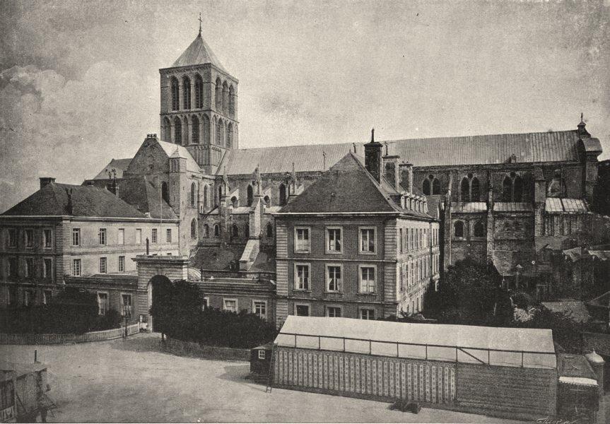 Associate Product HAUTE- NORMANDIE. Fecamp. Abbaye 1895 old antique vintage print picture