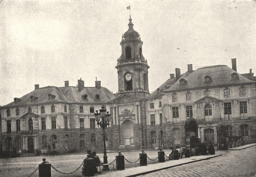 Associate Product ILLE- ET- VILAINE. Rennes. Hotel de Ville 1895 old antique print picture