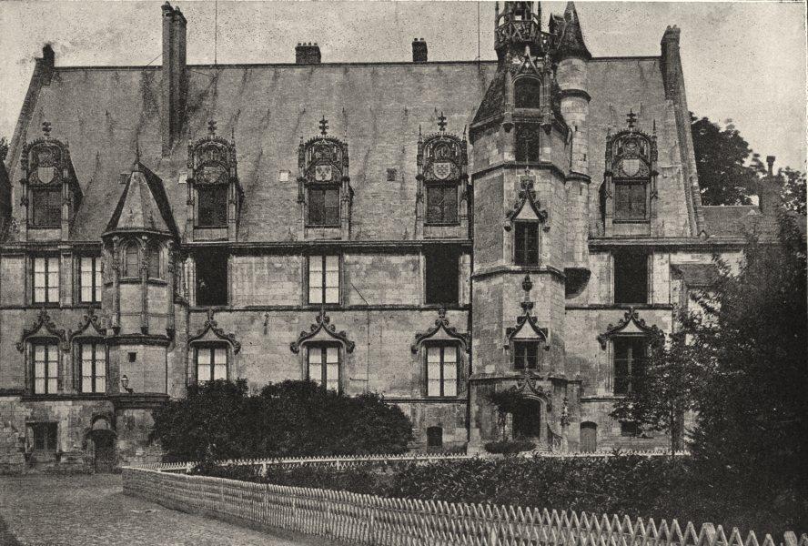 Associate Product OISE. Beauvais. Palais de Justice 1895 old antique vintage print picture