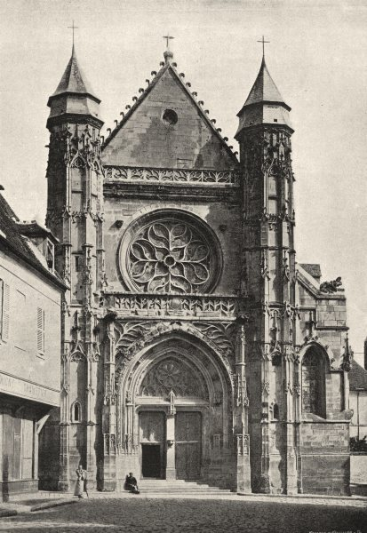 Associate Product OISE. Compiègne. Eglise St- André 1895 old antique vintage print picture