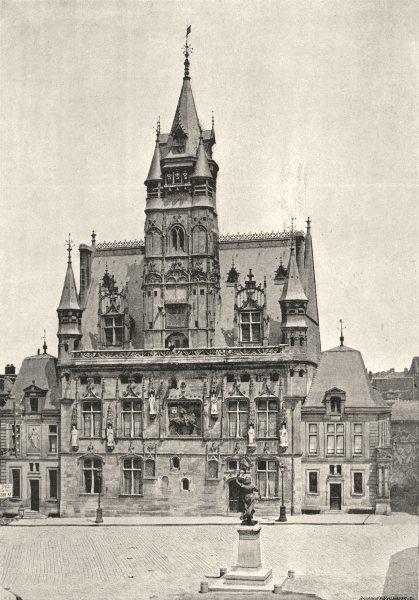 Associate Product OISE. Compiègne. Hotel de Ville 1895 old antique vintage print picture