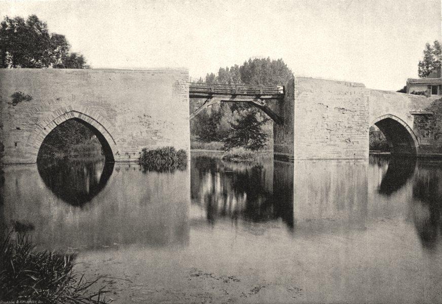 Associate Product DEUX- SÈVRES. Thouars. Pont sur Sèvre 1895 old antique vintage print picture