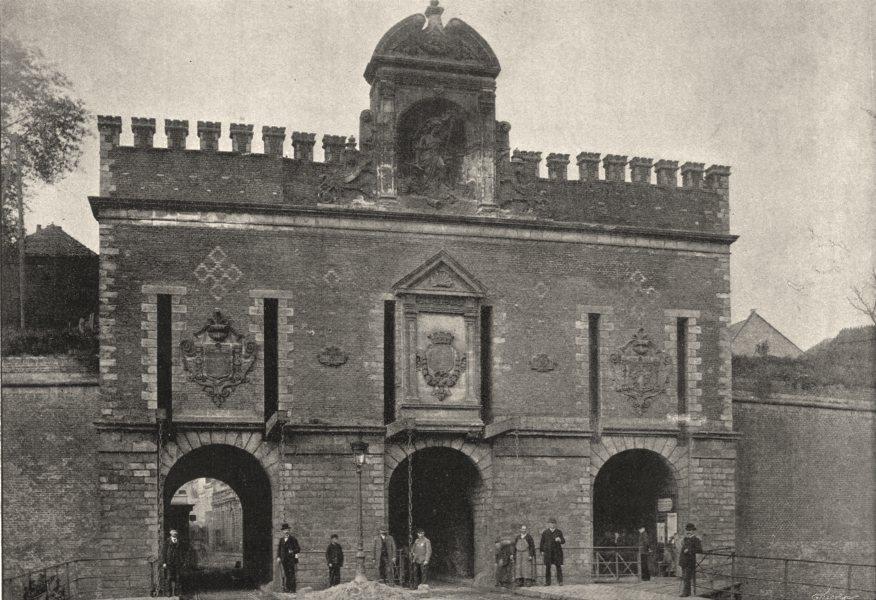 Associate Product NORD. Lille. Porte de Roubaix 1895 old antique vintage print picture