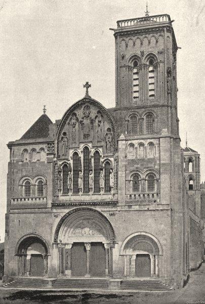 YONNE. Vezelay. Eglise. Détail 1895 old antique vintage print picture