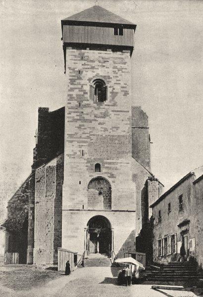 Associate Product HAUTE- GARONNE. St- Bertrand de Comminges. Eglise 1895 old antique print