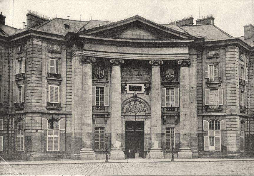 Associate Product PARIS. Ecole de Droit 1895 old antique vintage print picture