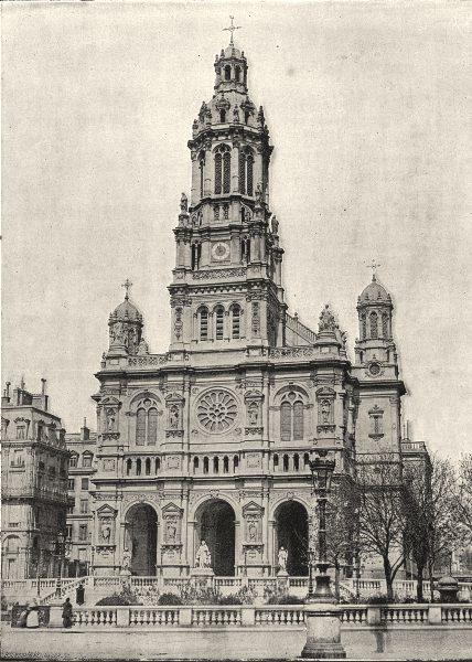 Associate Product PARIS. Trinite 1895 old antique vintage print picture