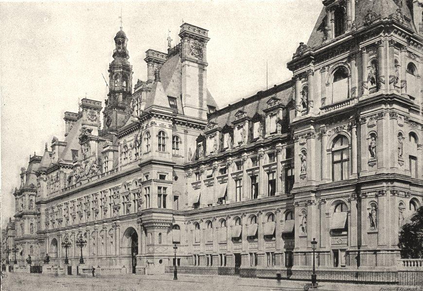 Associate Product PARIS. Hotel de Ville. Ensemble 1895 old antique vintage print picture