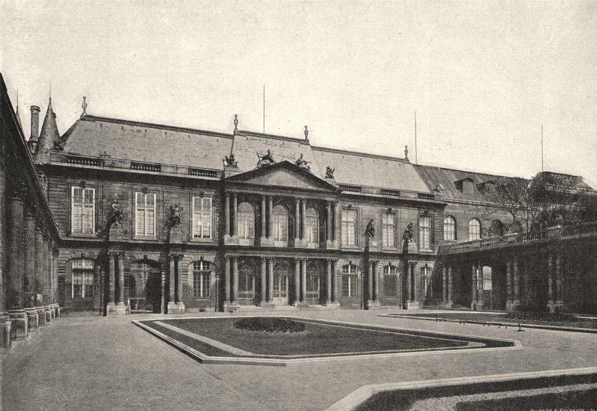 Associate Product PARIS. Palais des Archives 1895 old antique vintage print picture