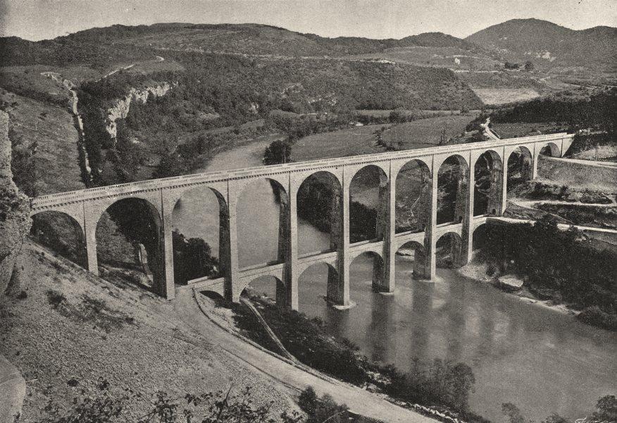 Associate Product AIN. Pont Viaduc de Scize- Bolozon 1895 old antique vintage print picture
