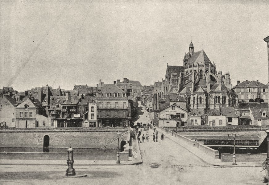 Associate Product MAYENNE. Une Rue 1895 old antique vintage print picture