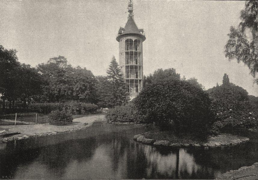 Associate Product PARIS. Jardin D'Acclimatation. Colombier 1895 old antique print picture