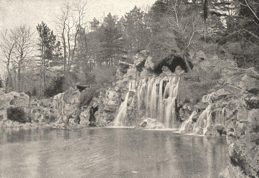 Associate Product PARIS. Bois de Boulogne. Cascade 1895 old antique vintage print picture