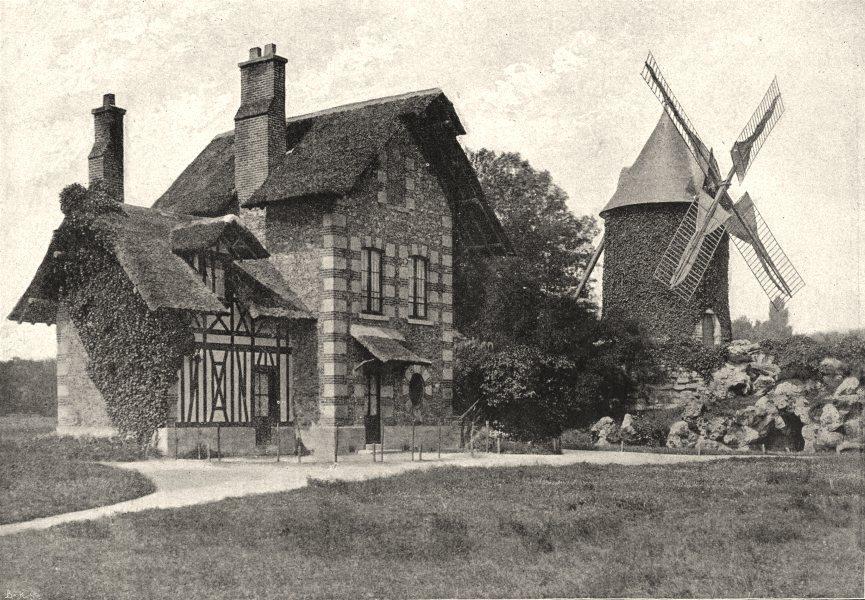 Associate Product PARIS. Bois de Boulogne. Moulin 1895 old antique vintage print picture