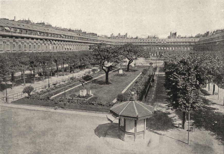 Associate Product PARIS. Jardin du Palais- Royal 1895 old antique vintage print picture