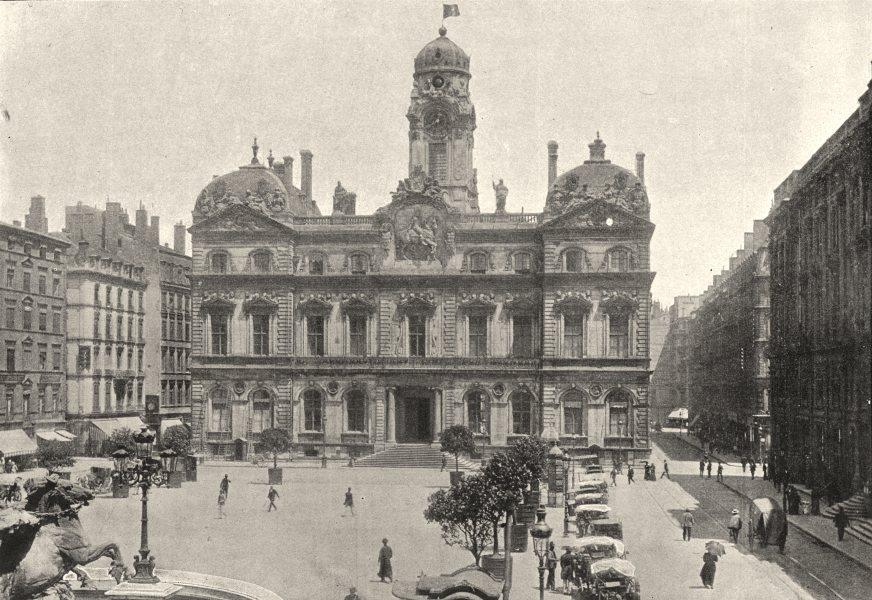 Associate Product RHÔNE. Lyon. Hotel de Ville 1895 old antique vintage print picture