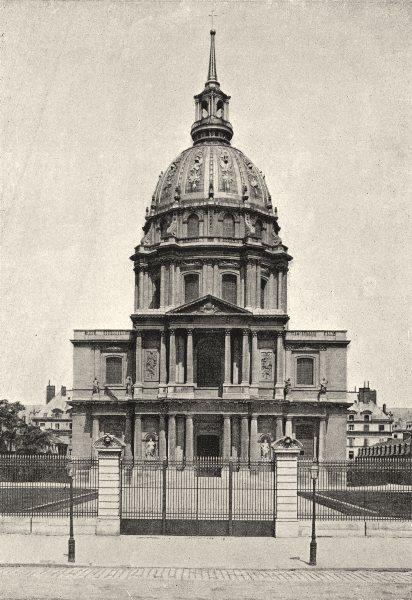 Associate Product PARIS. Invalides. Dome 1895 old antique vintage print picture