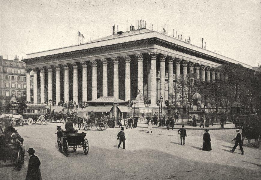 Associate Product PARIS. Bourse 1895 old antique vintage print picture