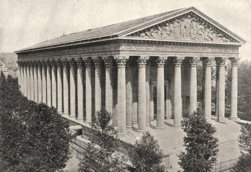 Associate Product PARIS. Madeleine 1895 old antique vintage print picture
