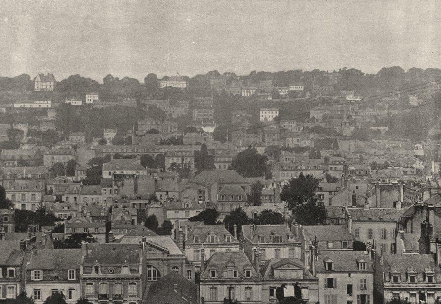 Associate Product SEINE- MARITIME. Le Havre. Côté D'Ingouville 1895 old antique print picture