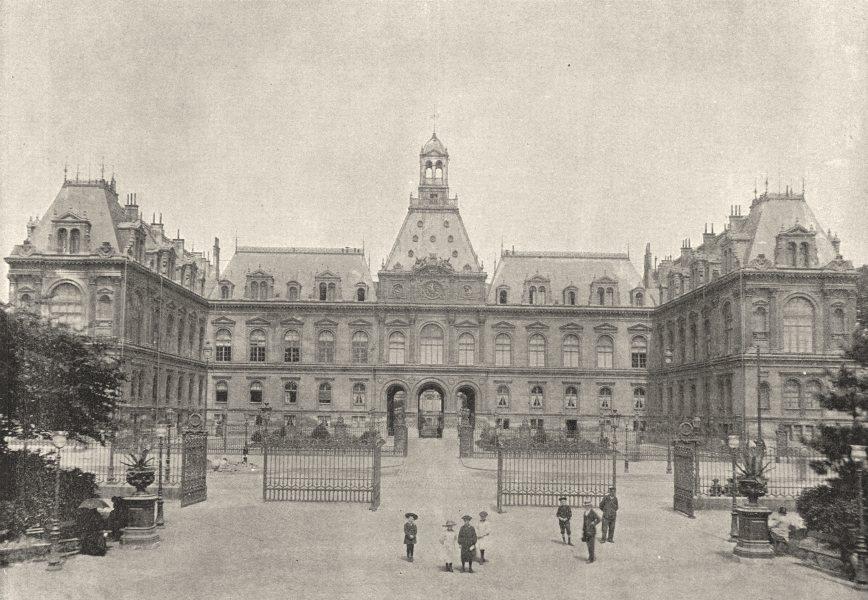 Associate Product SEINE- MARITIME. Le Havre. Hotel de Ville 1895 old antique print picture